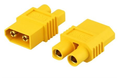 Adapter XT60-E  XT60Stecker <=>E-flite EC3 Buchse Bulk