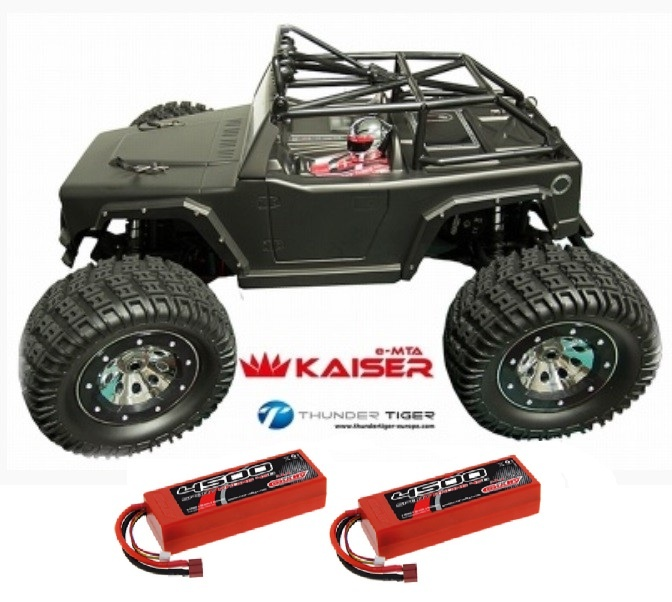 Thunder Tiger KAISER 4WD 6S Monster 2.4GHz schwarz RTR 1:8 &