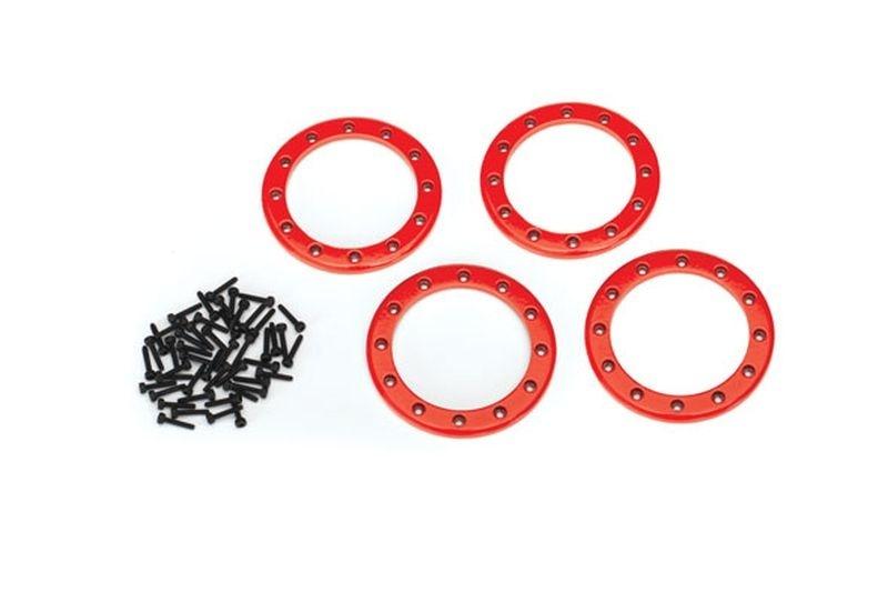 Traxxas Beadlock Rings Rot (2.2) Alu (4) + Schrauben