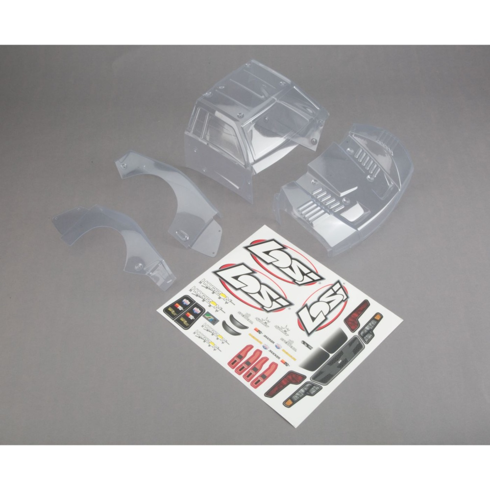 Losi Body Set, Clear: Baja Rey (LOS230009)