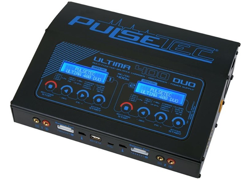 Pulsetec - Quad Charger -  Ultima 400 Duo - AC 100-240V -