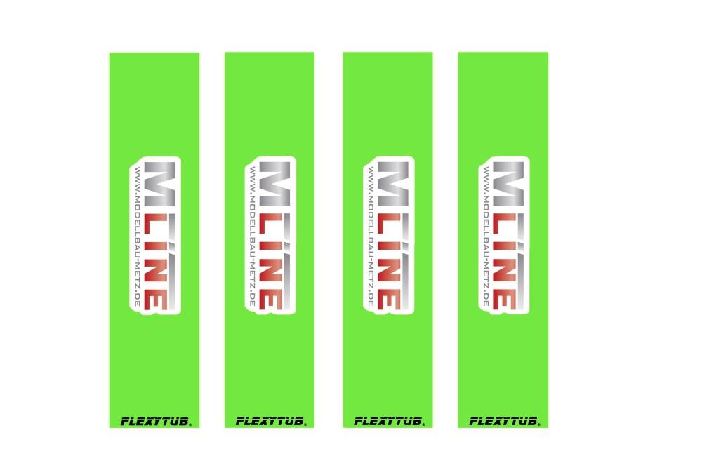 Flexytub/MLine Dämpfersocken/Dustcover für Maßstab 1/8