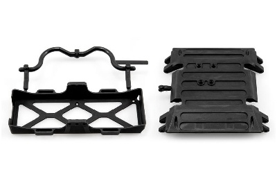 Axial - Tube Frame Skid Plate/Battery Tray Wraith