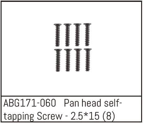 Absima Pan Head Screw M2.5*15 (8)
