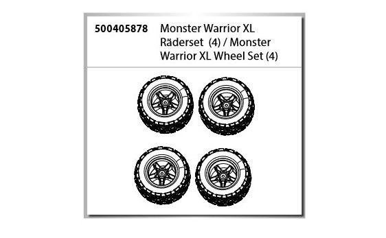 Carson Monster Warrior XL Räderset (4)