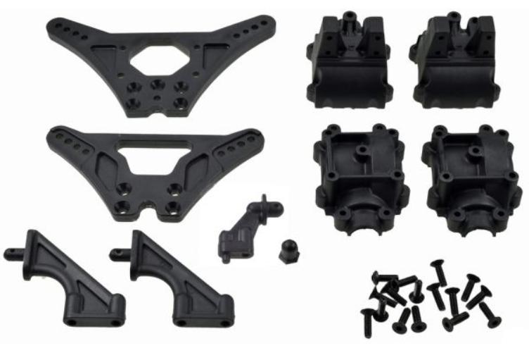 Carson X10EB Dämpferbrücken/Getriebegehäuse
