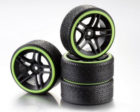 Absima Räderset Drift 10-Speichen Profil B Felge schwarz