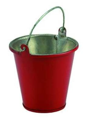 Amewi Eimer aus Metall, rot groß 1:10