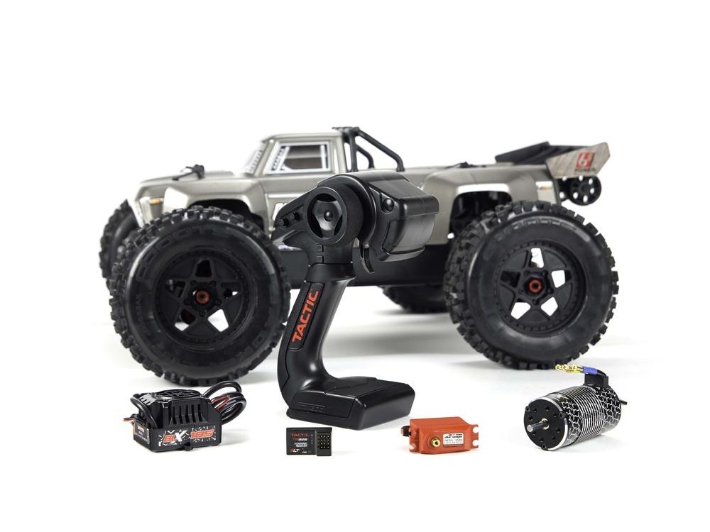 Arrma Outcast 6S BLX 4WD Stunt Truck 2.4GHz RTR 1:8 silber