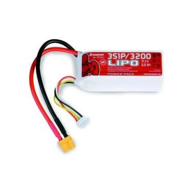 Graupner Power Pack LiPo 3S / 3200 mAh, 11,1 V, 30 C, XT-60