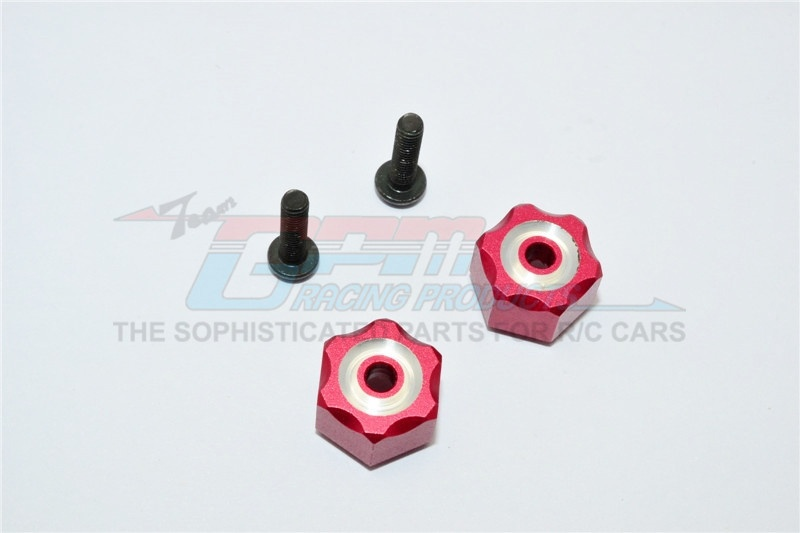 GPM aluminum hex adapter (+3mm) - 2PC Set for Traxxas LaTrax