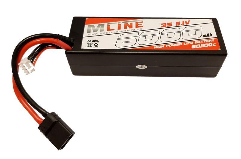 MLine High Power LiPo Akku 60/100C 3S 11,1V 6000mAh TRX