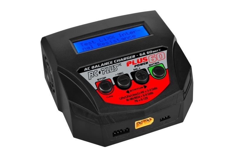 RC Plus - Power Plus 60 Charger - AC 60W - 1x 4S Lixx -