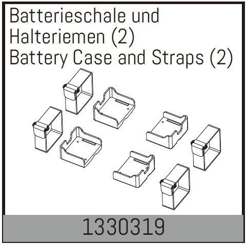 Absima Batterieschale und Halteriemen (2)