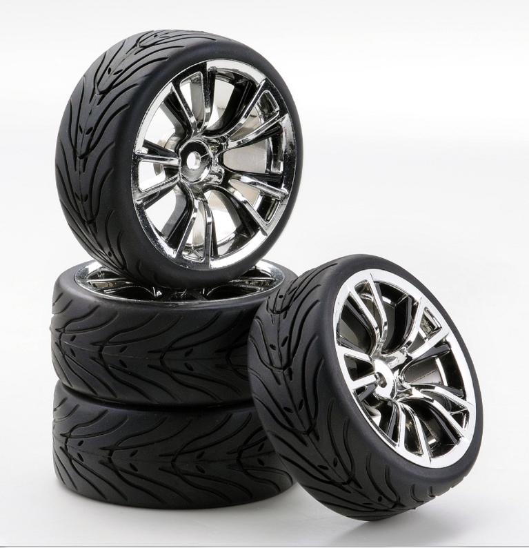 Carson SC-Räder BR Style chrom/schwarz, 4 Stück