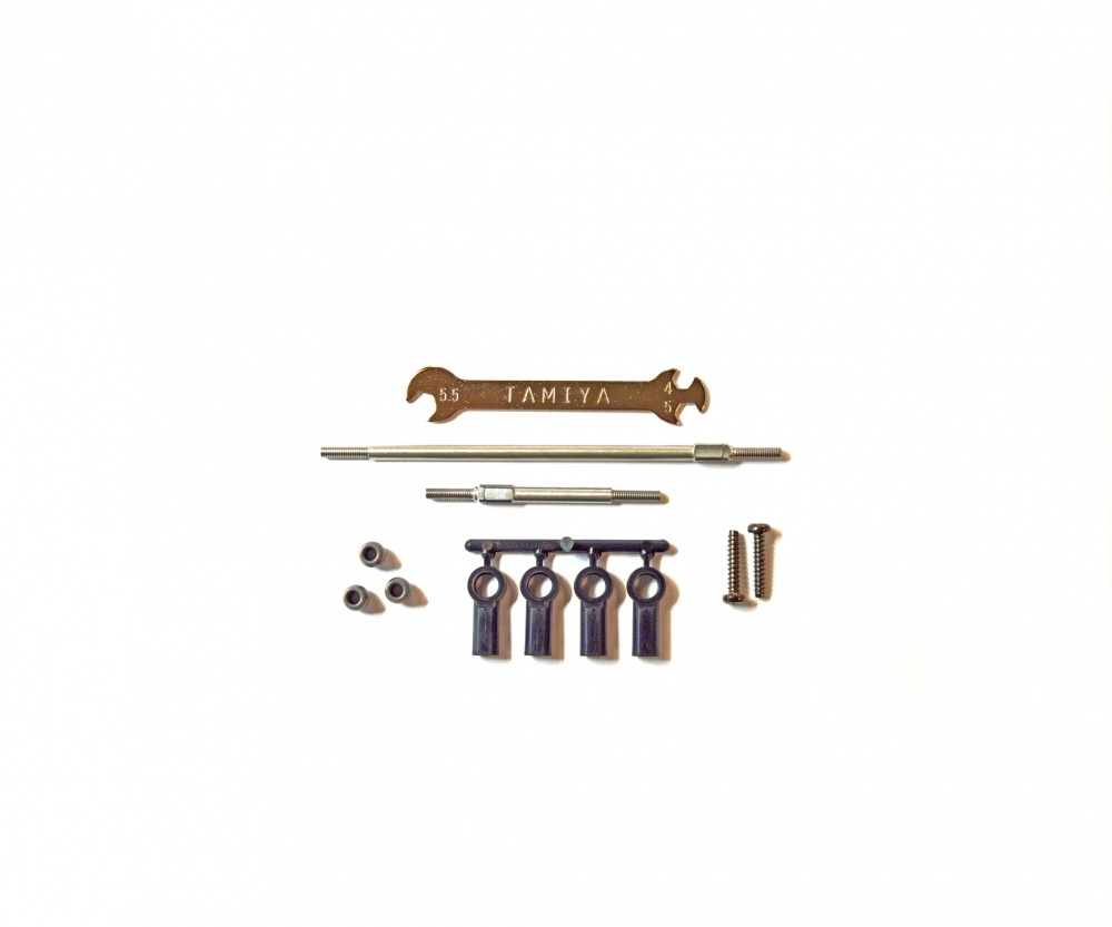 Tamiya CC-02 Stahl Anlenkungs-Set einstellbar