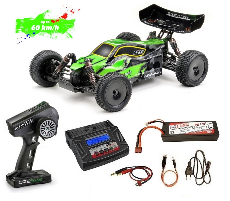 Absima 1:10 EP Buggy AB3.4BL 4WD Brushless RTR --Sparset