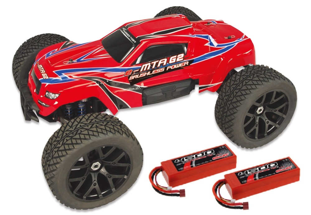 Thunder Tiger e-MTA G2 BL Monster Truck rot 2.4GHz RTR 1:8 &