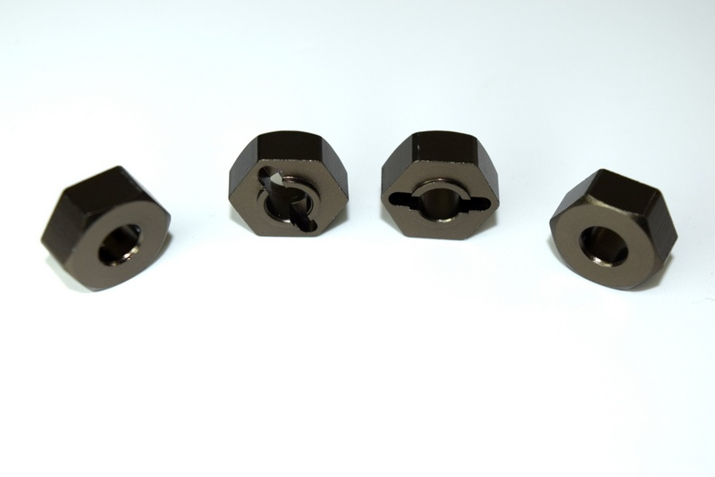 Absima Aluminium Radmitnehmer 12mm (4) ATC 2.4 RTR/BL