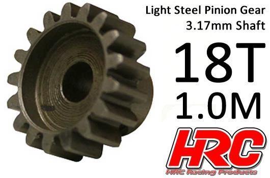 HRC Motorritzel - 1.0M / 3.17mm Achse - Stahl - Leicht - 18Z