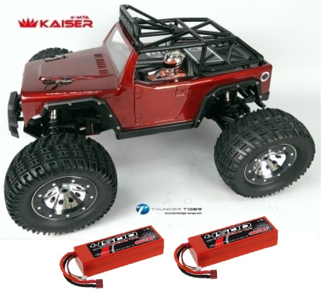 Thunder Tiger KAISER 4WD 6S Monster 2.4GHz rot RTR 1:8 &