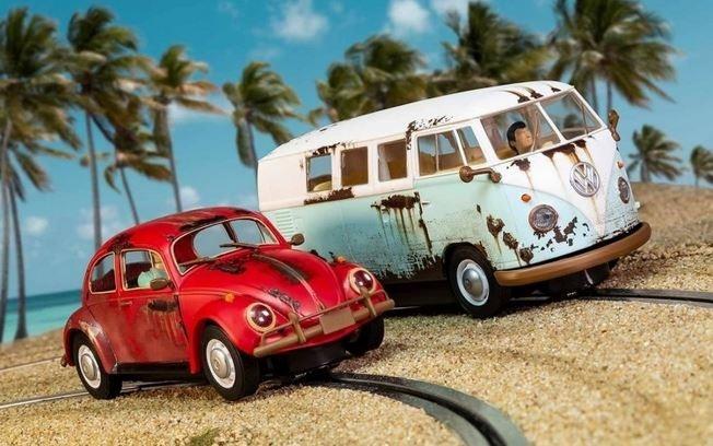 Scalextric 1:32 VW Beetle/Camper Van - W.C. Rat HD