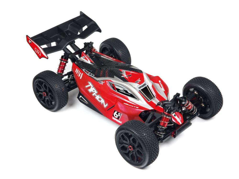 Arrma RC Typhon 6S BLX Karosserie rot-schwarz