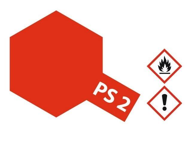Tamiya Lexanlack PS 2 rot