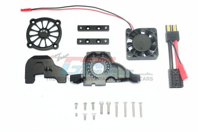 GPM aluminium motor mount + upper spur gear case cover w.
