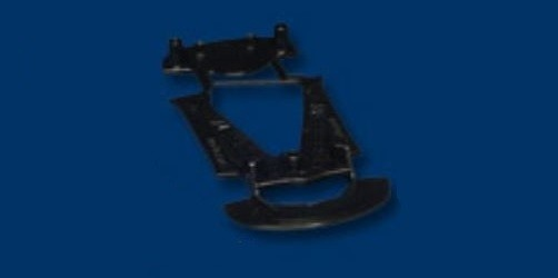 NSR Corvette C7R Chassis MEDIUM BLACK TRIANGULAR