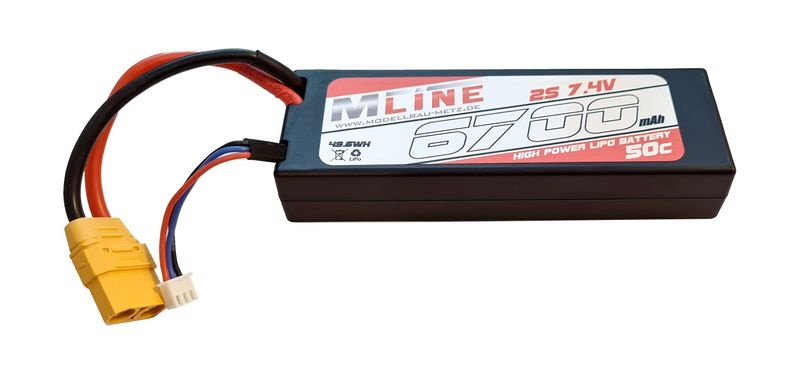 MLine Power Racing 50C - 6700mAh - 2S - 7,4V - XTT-90 -