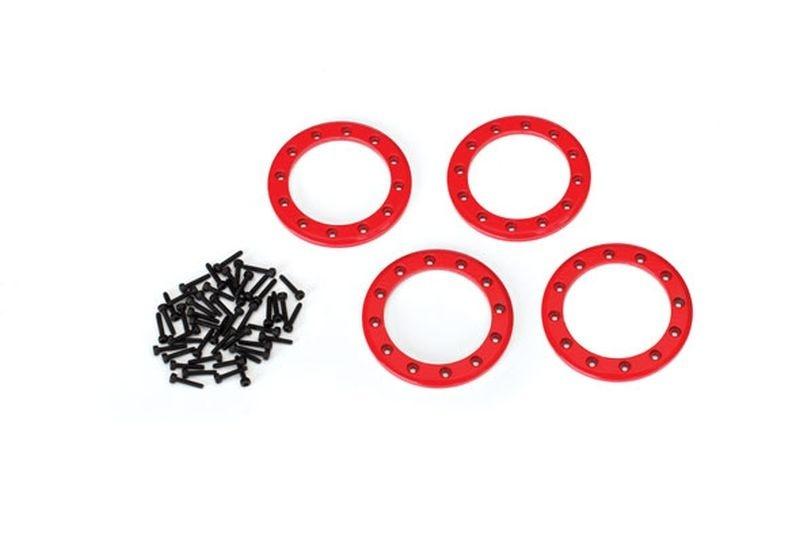 Traxxas Beadlock Rings Rot (1.9) Alu (4) + Schrauben
