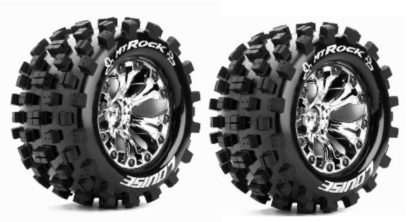 Louise RC MT-ROCK MonsterTruck Reifen 1:10-Fertig Verklebt