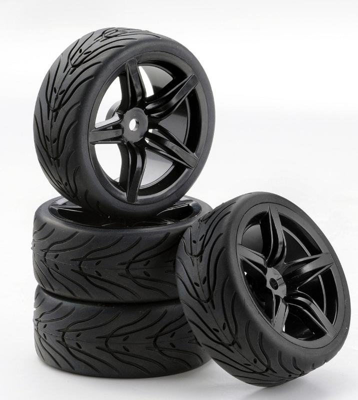 Carson SC-Räder F12 Style schwarz, 4 Stück