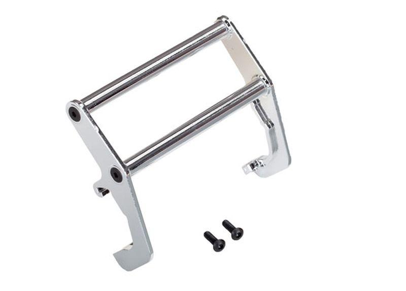 Traxxas Push bar, Bumper, chrome (assembled)