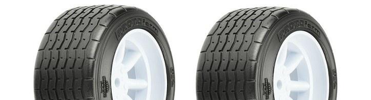 Pro Line VTA Reifen hinten (31mm) auf Felge weiss