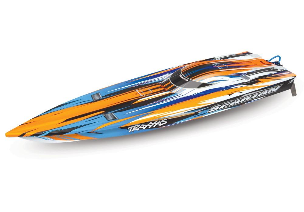 TRAXXAS SPARTAN orange ohne Akku/Lader BL-Renn-Boot