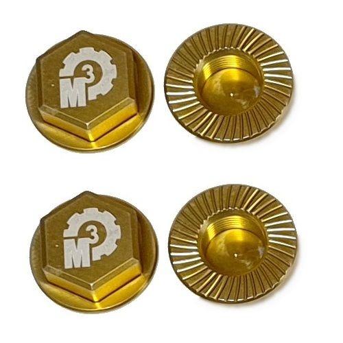 MMM Radmuttern-Set 17mm aus 7075 Aluminium - gold