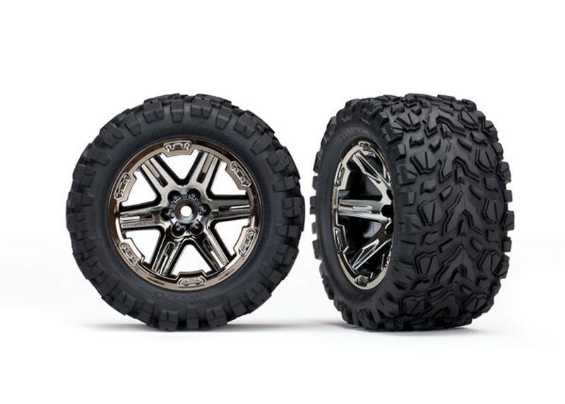 Traxxas Reifen auf Felgen 2.8 RXT schwarz chrome,