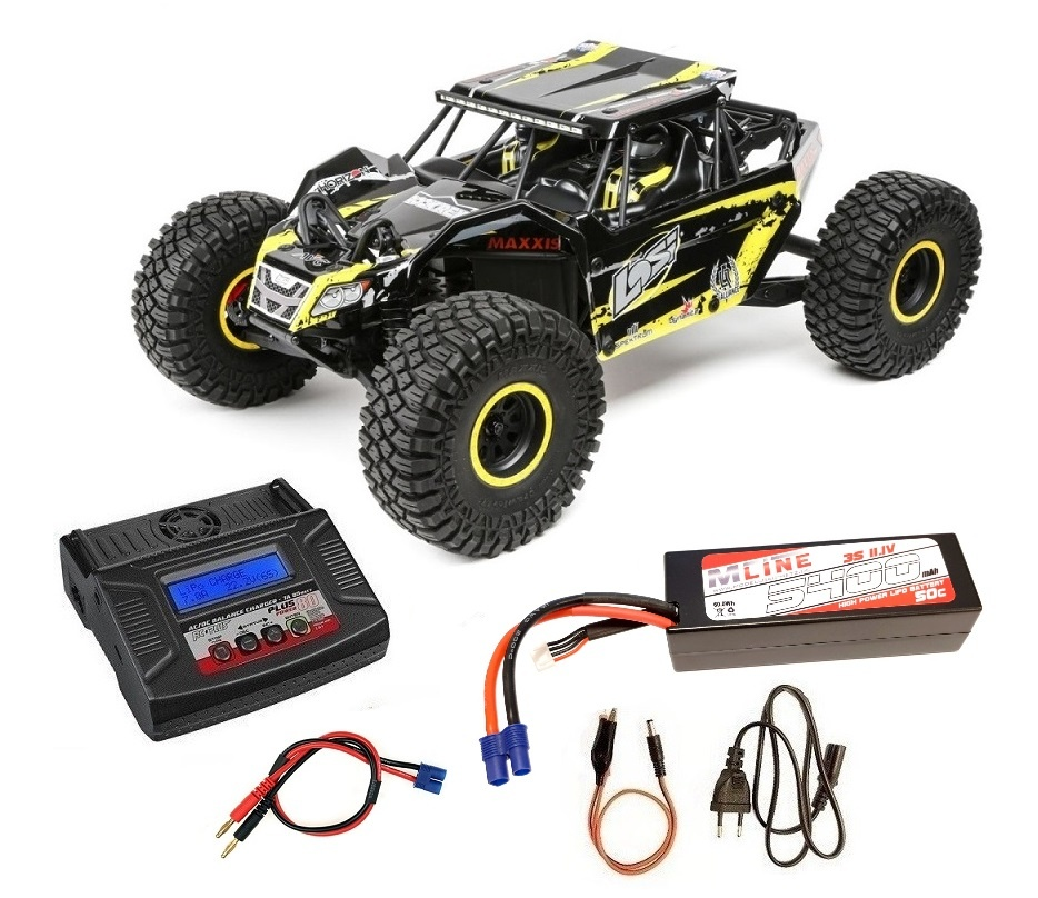 Losi Rock Rey 4WD Rock Racer 2.4GHz AVC gelb RTR 1:10