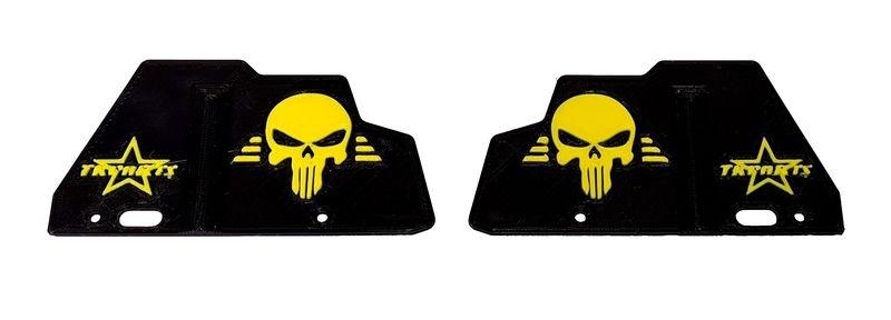 JS-Parts ultraflex Mudguards schwarz/gelb