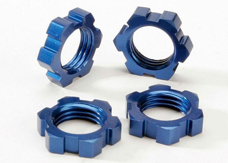 Traxxas 17mm Felgenmuttern Revo blau