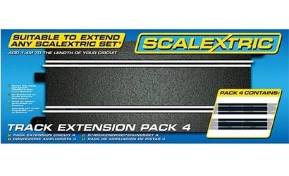 Scalextric Erweiterungs-Pack 4 Gerade (4)