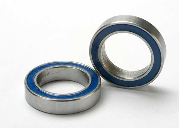 Traxxas Kugellager, Gummidichtung blau 12x18x4mm (2)