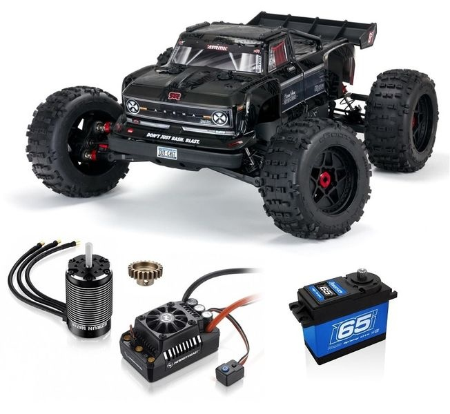 Arrma 1/5 OUTCAST 4WD ExTreme Bash Roller Stunt Truck, Black