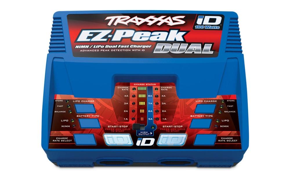 Traxxas DUAL EZ-Peak Plus 2x4-Amp NiMH/Lipo Schnell-Lader