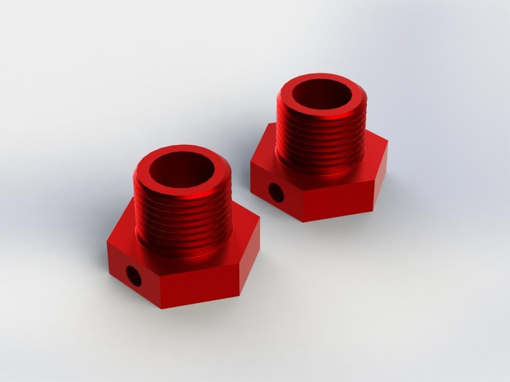 Arrma RC Radmitnehmer 17mm-Sechskant rot (2)