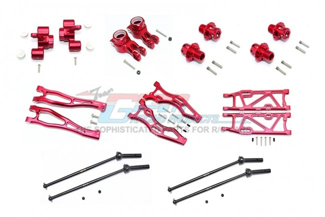 GPM aluminium F.upper+lower arms, R.lower arms, F+R knuckle