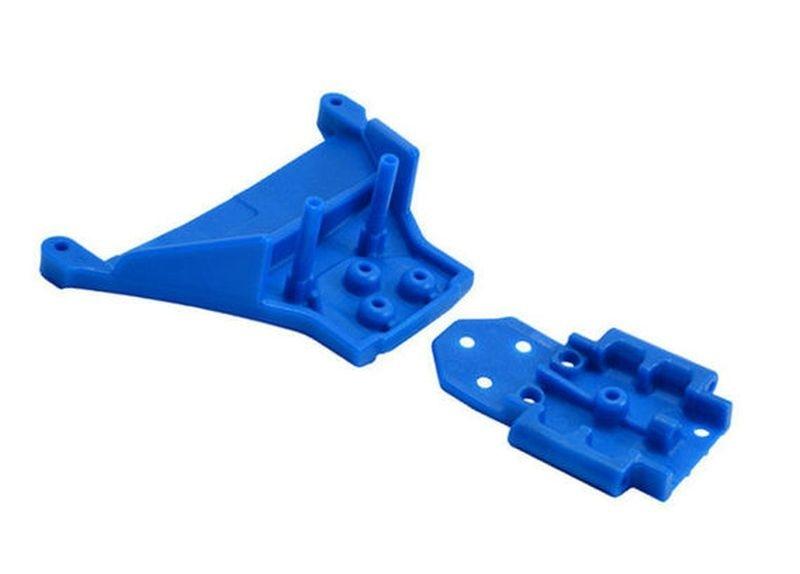 RPM Bulkhead vorn blau TRX Slash 4x4 LCG