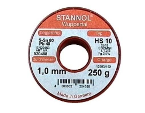 Lötzinn 1mm, SN99Cu1, 250 g